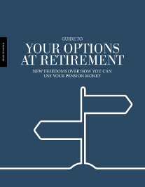 UnaVida Retirement Options Guide cover - White outline of a sign post on a blue background