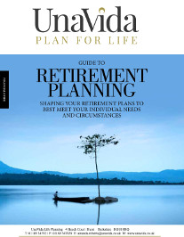 Retirement planning guide cover - Lone tree growing on an island in the middle of a lake